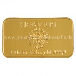 Goldbarren 1 oz (31,1 g)