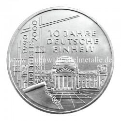 10 Jahre Deutsche Einheit    2000 - Vorderseite